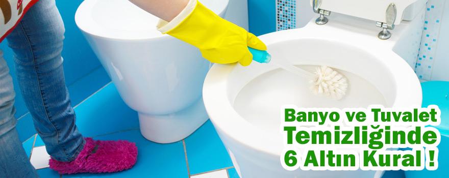 Evde banyo ve tuvalet temizliğinde 6 altın kural
